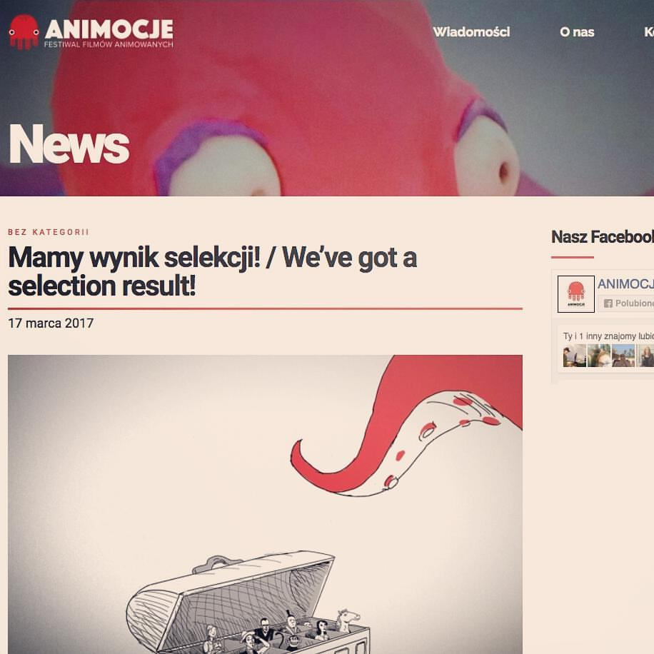 "My Film ""Affordance"" was screened at Animocje Animated Film Festival in Poland"