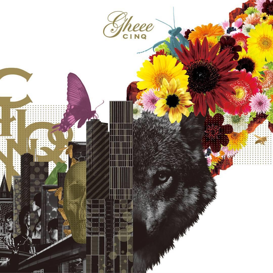 gheee(ギー)の10th Anniversary 5thアルバム「CINQ」のアートワーク